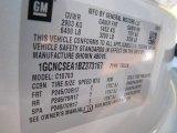 2011 Chevrolet Silverado 1500 LT Regular Cab Info Tag