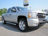 2011 Sheer Silver Metallic Chevrolet Silverado 1500 LT Crew Cab 4x4 #50231109