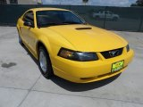 1999 Chrome Yellow Ford Mustang V6 Coupe #50268244