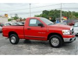 2007 Flame Red Dodge Ram 1500 SLT Regular Cab #50231183