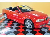 2002 Electric Red BMW 3 Series 330i Convertible #50329797