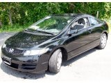 2007 Nighthawk Black Pearl Honda Civic LX Coupe #50329322