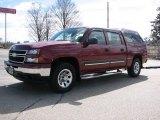 2006 Sport Red Metallic Chevrolet Silverado 1500 LS Crew Cab 4x4 #50329656