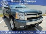 2007 Blue Granite Metallic Chevrolet Silverado 1500 LT Extended Cab #50330022