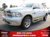 2011 Bright White Dodge Ram 1500 Laramie Longhorn Crew Cab #50329552