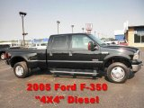 2005 Black Ford F350 Super Duty Lariat Crew Cab 4x4 Dually #50330032