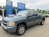 2011 Blue Granite Metallic Chevrolet Silverado 1500 LS Extended Cab 4x4 #50380169