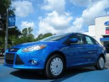 2012 Blue Candy Metallic Ford Focus SE SFE Sedan #50380204