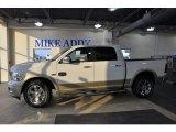 2011 Bright White Dodge Ram 1500 Laramie Longhorn Crew Cab 4x4 #50380381