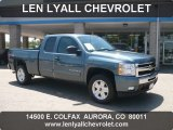 2009 Blue Granite Metallic Chevrolet Silverado 1500 LT Extended Cab 4x4 #50380218