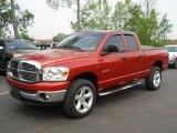 2008 Sunburst Orange Pearl Dodge Ram 1500 Big Horn Edition Quad Cab 4x4 #50380783