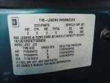 1999 Chevrolet Cavalier Coupe Info Tag