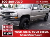 2002 Light Pewter Metallic Chevrolet Silverado 1500 Extended Cab 4x4 #50380830