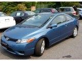 2007 Atomic Blue Metallic Honda Civic EX Coupe #50443308