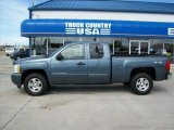 2007 Blue Granite Metallic Chevrolet Silverado 1500 LT Extended Cab 4x4 #50443442