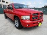 2003 Flame Red Dodge Ram 1500 SLT Quad Cab 4x4 #50466327