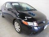 2007 Nighthawk Black Pearl Honda Civic LX Coupe #50466479