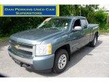 2008 Blue Granite Metallic Chevrolet Silverado 1500 LT Extended Cab 4x4 #50501640