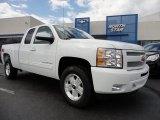 2011 Summit White Chevrolet Silverado 1500 LT Extended Cab 4x4 #50501849