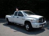 2009 Bright White Dodge Ram 3500 Laramie Quad Cab 4x4 Dually #50502275