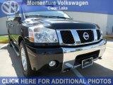 2007 Galaxy Black Nissan Titan LE Crew Cab #50502288