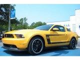 2012 Ford Mustang Yellow Blaze Metallic Tri-Coat
