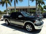 2009 Brilliant Black Crystal Pearl Dodge Ram 1500 Laramie Crew Cab 4x4 #50549384