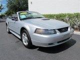 2002 Satin Silver Metallic Ford Mustang V6 Convertible #50549428