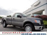 2011 Sterling Grey Metallic Ford F150 XL Regular Cab 4x4 #50549456