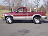 2002 Dark Carmine Red Metallic Chevrolet Silverado 1500 LS Regular Cab 4x4 #5054702