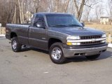 2002 Medium Charcoal Gray Metallic Chevrolet Silverado 1500 Work Truck Regular Cab 4x4 #5054705