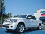 2011 White Platinum Metallic Tri-Coat Ford F150 Limited SuperCrew #50549533