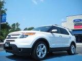 2011 White Platinum Tri-Coat Ford Explorer Limited #50549534