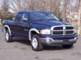 2004 Patriot Blue Pearl Dodge Ram 1500 SLT Quad Cab 4x4 #5054712