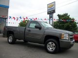2011 Steel Green Metallic Chevrolet Silverado 1500 LT Regular Cab 4x4 #50600893