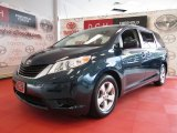 2011 Cypress Green Pearl Toyota Sienna LE #50601415