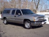 2003 Light Pewter Metallic Chevrolet Silverado 1500 LS Extended Cab 4x4 #5054708