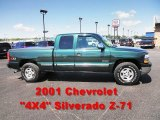 2001 Forest Green Metallic Chevrolet Silverado 1500 LS Extended Cab 4x4 #50601473