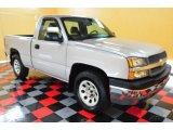 2005 Silver Birch Metallic Chevrolet Silverado 1500 LS Regular Cab 4x4 #50649133
