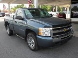 2009 Blue Granite Metallic Chevrolet Silverado 1500 LS Regular Cab 4x4 #50649295