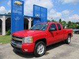 2011 Victory Red Chevrolet Silverado 1500 LT Extended Cab 4x4 #50648870