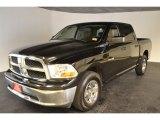 2009 Brilliant Black Crystal Pearl Dodge Ram 1500 SLT Crew Cab #50649351