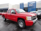 2011 Victory Red Chevrolet Silverado 1500 LS Extended Cab 4x4 #50648937