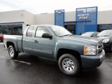 2011 Blue Granite Metallic Chevrolet Silverado 1500 LS Extended Cab 4x4 #50648938