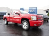 2011 Victory Red Chevrolet Silverado 1500 LT Extended Cab 4x4 #50648939