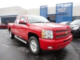 2011 Victory Red Chevrolet Silverado 1500 LT Extended Cab 4x4 #50648940