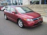 2007 Tango Red Pearl Honda Civic EX Sedan #50690801