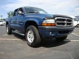 2004 Atlantic Blue Pearl Dodge Dakota Sport Quad Cab 4x4 #50690506