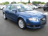 2008 Ocean Blue Pearl Effect Audi A4 2.0T S-Line Sedan #50724428