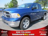 2011 Deep Water Blue Pearl Dodge Ram 1500 SLT Quad Cab #50731452